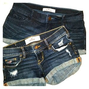 2 for 1 - Hollister denim shorts size 0❤